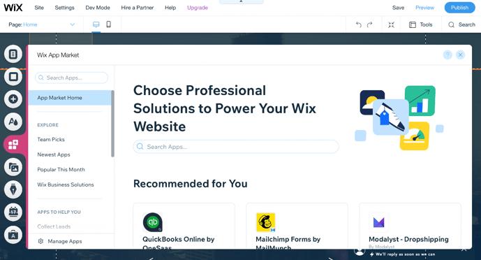 Step 6. Wix Editor